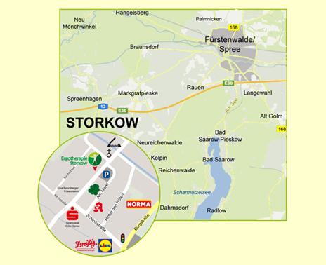 Anfahrt Ergotherapie Storkow